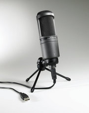 Audio-Technica AT2020 USB студийный микрофон интерфейс